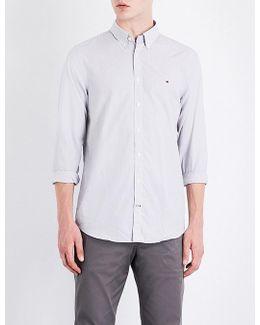 Dobby Slim-fit Cotton Shirt