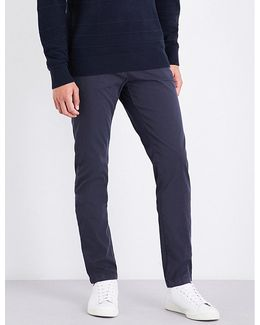 Denton Straight Mid-rise Stretch-cotton Chinos