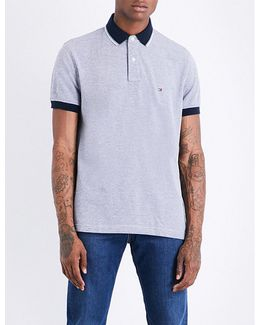 Oxford Stretch-cotton Piqué Polo Shirt