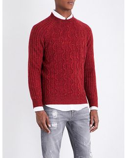 Flecked Cable-knit Jumper