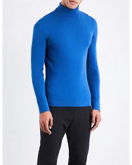 Turtleneck Cotton-knitted Jumper