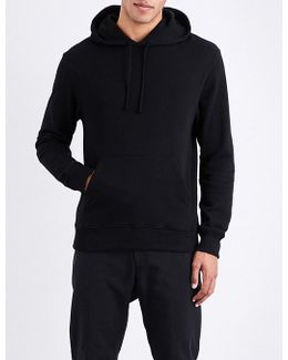 Patch-detailed Cotton-jersey Hoody
