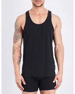 Pack Of Two Stretch-cotton Tank Tops