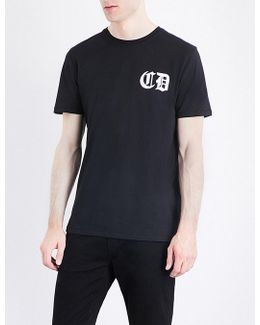 Orie Dragon-print Cotton-jersey T-shirt