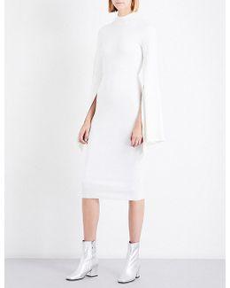 Ami Cutout-back Knitted Dress