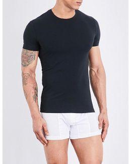 Seamless Stretch-cotton T-shirt