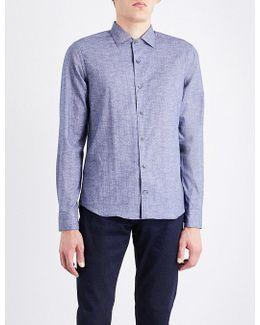 Textured Slim-fit Cotton Shirt