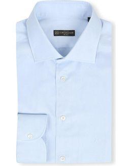 Plain Regular-fit Single-cuff Shirt