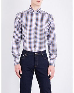 Regular-fit Gingham Checked Cotton Shirt
