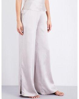 Wide-leg Silk-charmeuse Pyjama Bottoms