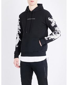 Paulo Floral-embroidered Cotton-jersey Hoody