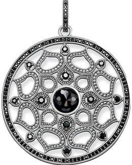 Mandala Amulet Sterling Silver Pendant