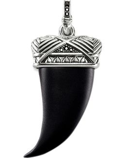 Rebel At Heart Sterling Silver And Onyx Maori Tooth