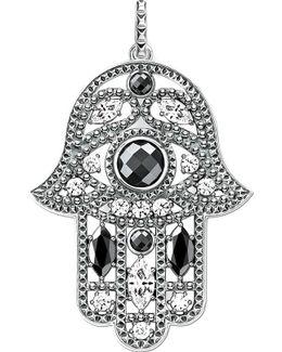 Hand Of Fatima Sterling Silver Pendant