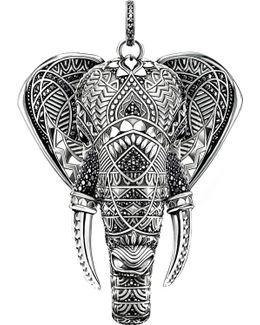 Elephant Head Sterling Silver