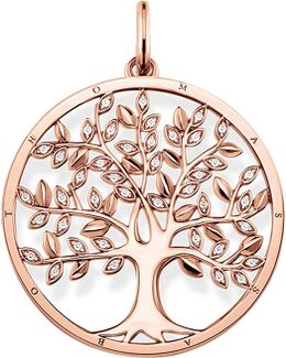 Tree Of Love 18ct Rose Gold-plated And Zirconia Pendant