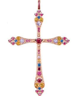 Royalty Cross 18ct Rose Gold-plated Pendant