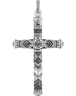 Maori Cross Sterling Silver Pendant