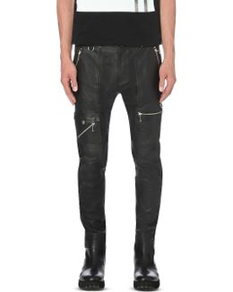 P-grundy Leather Trousers