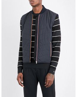 Contrast-piping Quilted Gilet