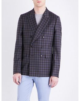 Double-check Kensington-fit Extra-fine Wool Jacket