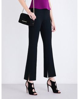 Goswell High-rise Flared Crepe Trousers