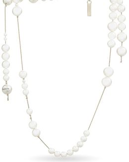 Long Mother Of Pearl Beads Necklace