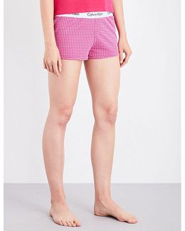 Geometric-print Stretch-cotton Pyjama Shorts