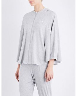 Batwing-sleeve Cotton-blend Hoody