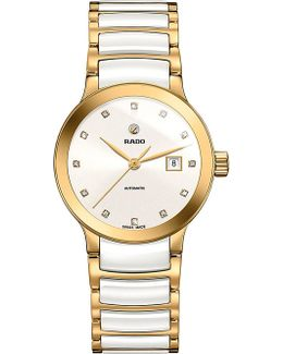 R30080752 Centrix Rose Gold And Ceramic Watch