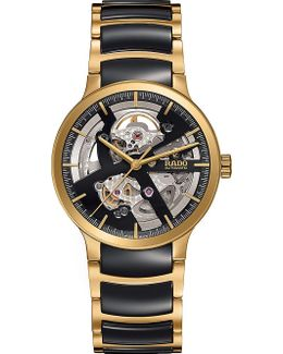 R30180162 Centrix Gold And Ceramic Open Heart Watch