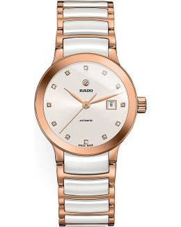 R30183742 Centrix Rose Gold And Ceramic Watch