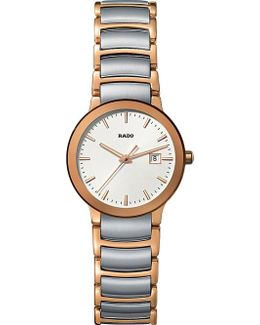 R30555103 Centrix Rose Gold And Stainless Steel Watch