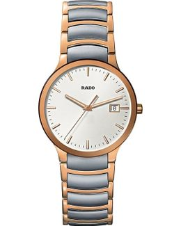 R30554103 Centrix Rose Gold And Stainless Steel Watch