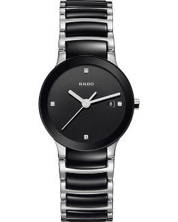 R30935712 Centrix Stainless Steel And Ceramic Diamond Watch
