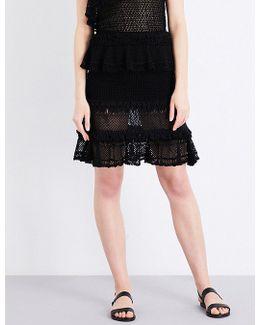 Ruffle Crochet Knitted Skirt