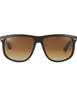 Black On Brown Square Sunglasses With Brown Tinted Lenses Rb4147 60
