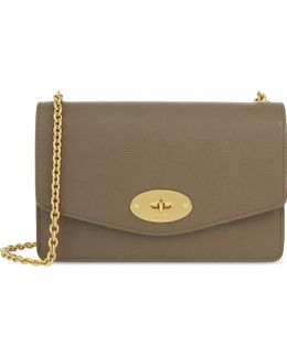 Darley Small Grained Leather Wallet-on-chain
