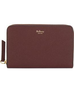 Grained Leather Medium Zip-around Wallet
