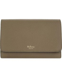 Grained Leather Medium Continental Wallet