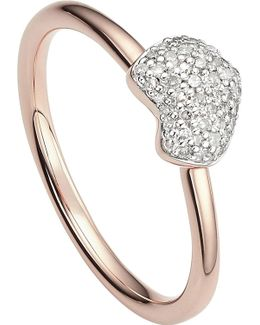 Nura 18ct Rose-gold Vermeil And Diamond Ring