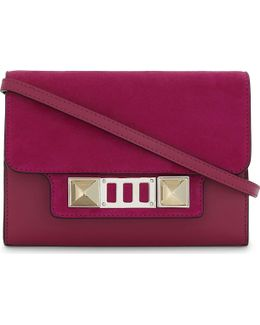 Ps11 Leather And Suede Wallet-on-chain