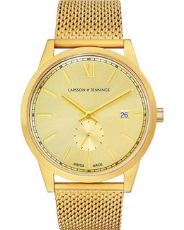 Saxon Gold-plated Stainless Steel Watch