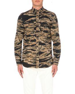 S-clap Slim-fit Cotton Shirt