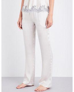 Straight Silk-satin Pyjama Bottoms