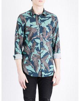 Dorado Leaf-print Cotton Shirt