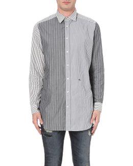 S-filter Striped Cotton Shirt