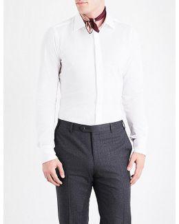 Textured Slim-fit Cotton-piqué Shirt