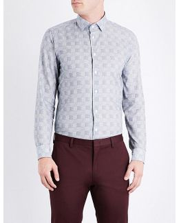 Checked Contemporary-fit Cotton Shirt