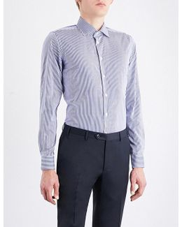 Bengal-striped Contemporary-fit Cotton Shirt